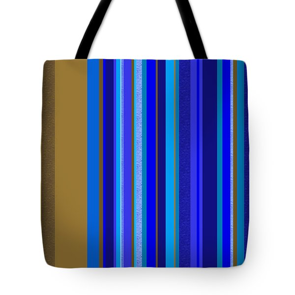Large Blue Abstract - Panel Two Tote Bag