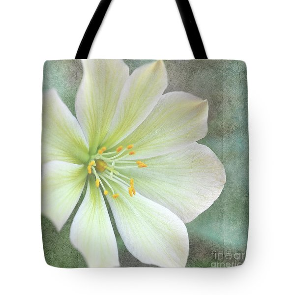 Tote Bag featuring the pyrography Large Flower by Lyn Randle