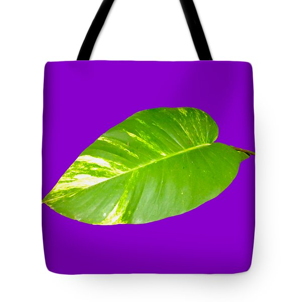 Tote Bag featuring the digital art Large Leaf Art by Francesca Mackenney