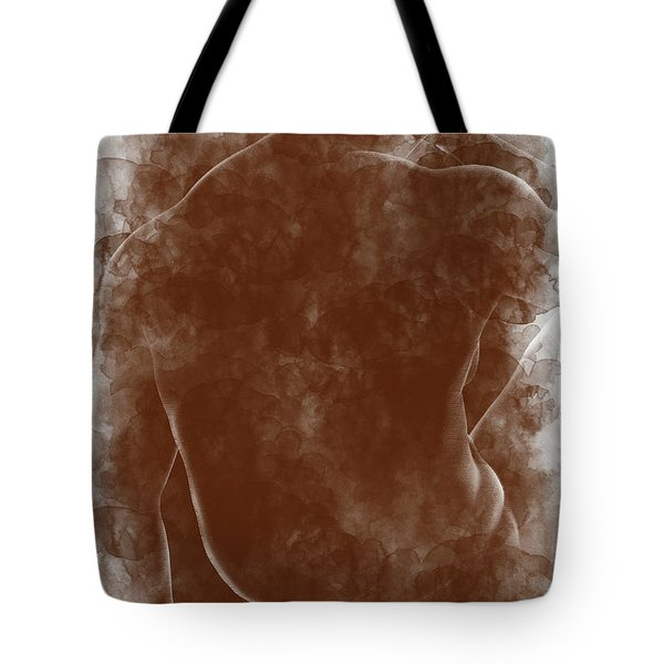 Large Man Backside Tote Bag by Peter J Sucy