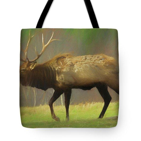 Large Pennsylvania Bull Elk. Tote Bag