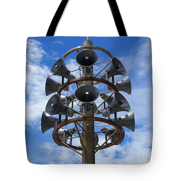 Tote Bag featuring the photograph Large Public Address System by Yali Shi