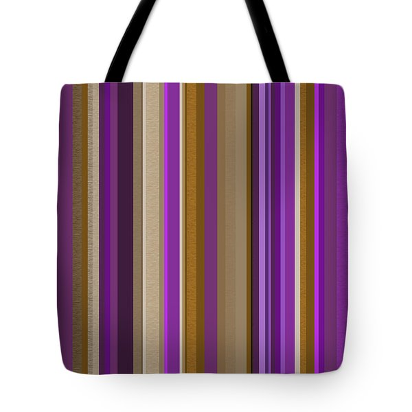 Large Purple Abstract - Three Tote Bag