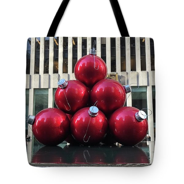Large Red Ornaments Tote Bag