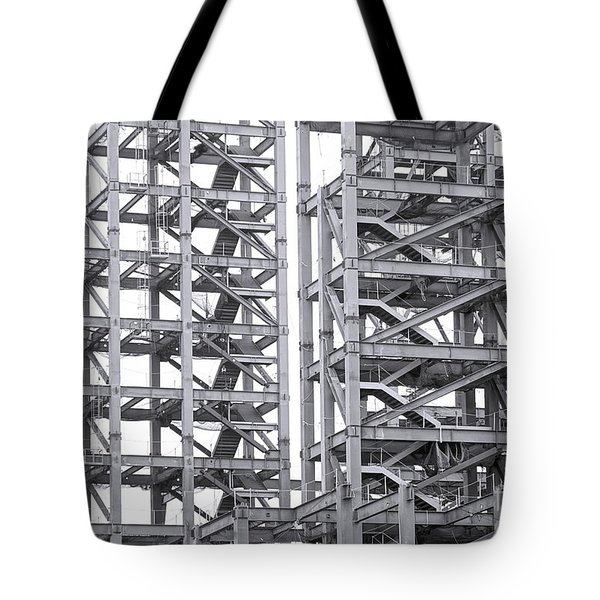 Tote Bag featuring the photograph Large Scale Construction Project With Steel Girders by Yali Shi