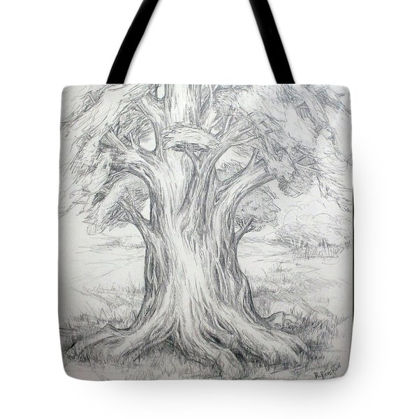 Large Shady Tree Tote Bag by Ruth Renshaw
