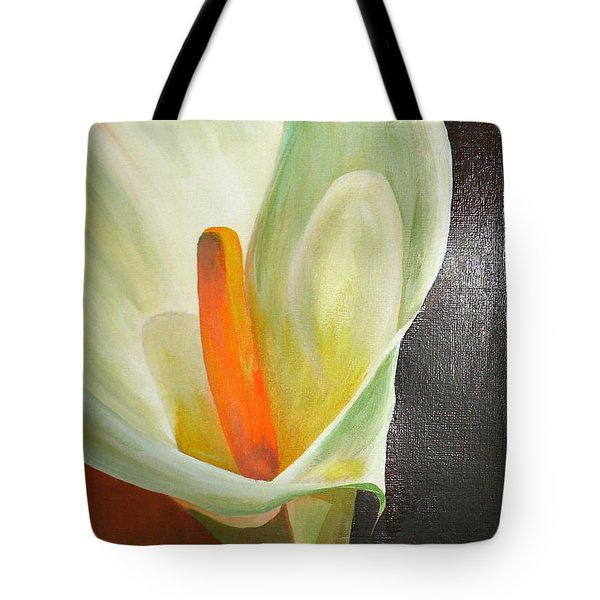 Large White Calla Tote Bag