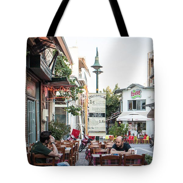 Larissa Old City Street View Tote Bag