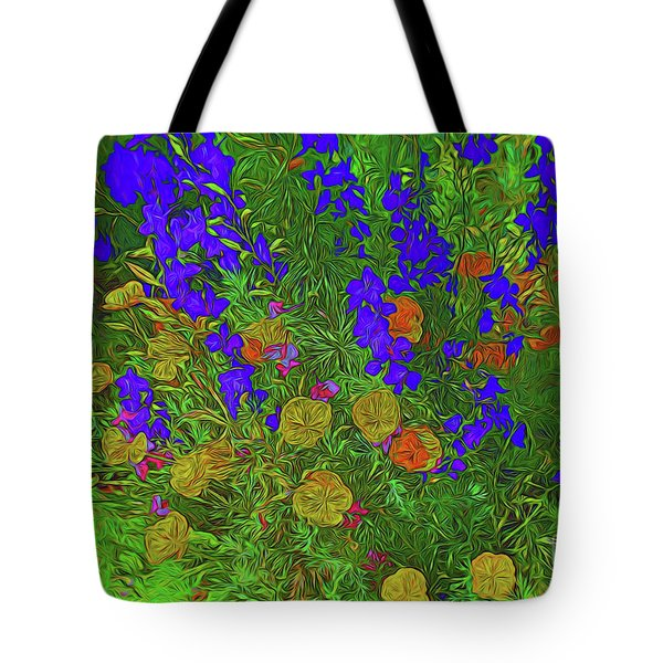 Larkspur And Primrose Garden 12018-3 Tote Bag