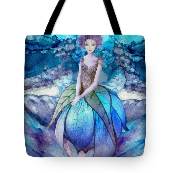 Tote Bag featuring the painting Larmina by Mo T
