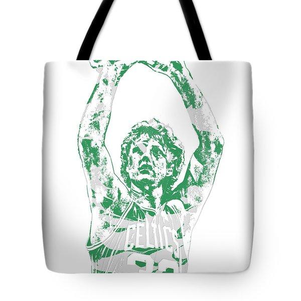 Larry Bird Boston Celtics Pixel Art 5 Tote Bag