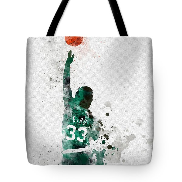 Larry Bird Tote Bag by Rebecca Jenkins