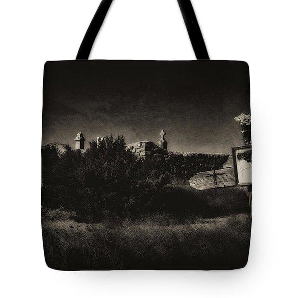 Las Cruces De Galisteo New Mexico Tote Bag by Karen Slagle