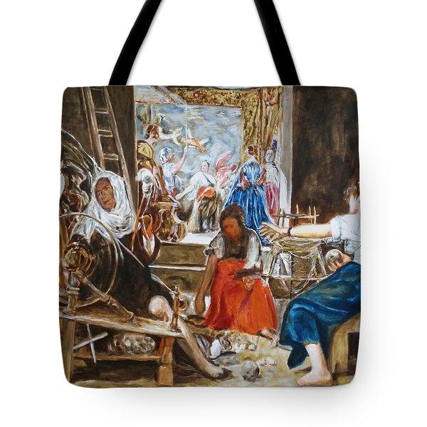 Las Hilanderas. Study Tote Bag by Bachmors Artist
