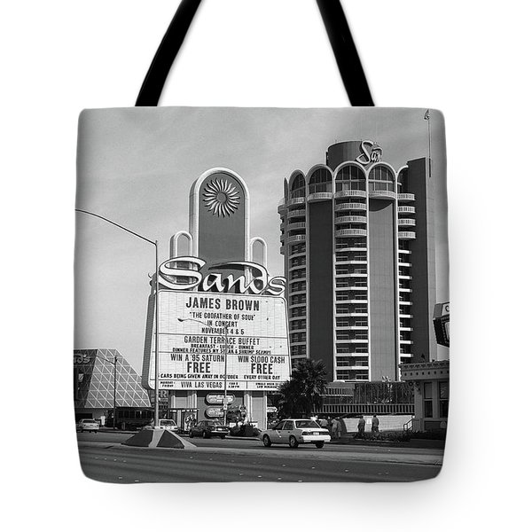 Tote Bag featuring the photograph Las Vegas 1994 #1 Bw by Frank Romeo