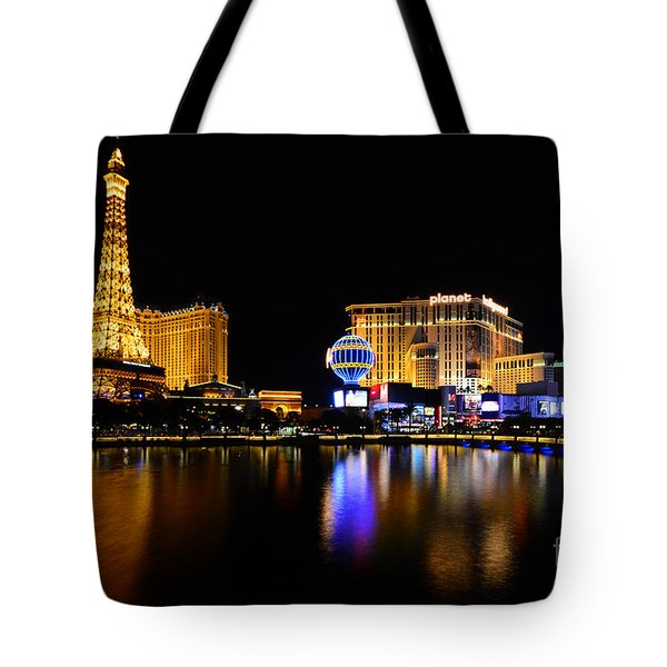 Las Vegas At Night Tote Bag