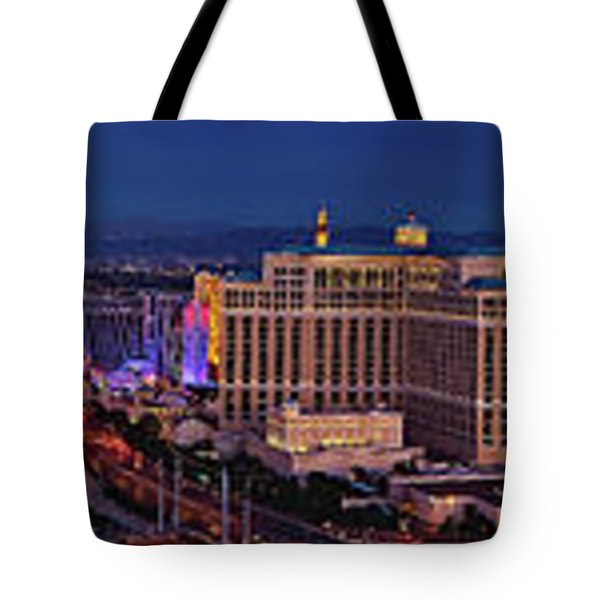Tote Bag featuring the photograph Las Vegas Panoramic Aerial View by Susan Candelario