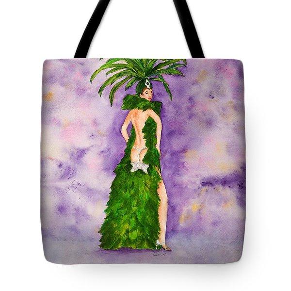 Las Vegas Show Girl Tote Bag by Vicki  Housel