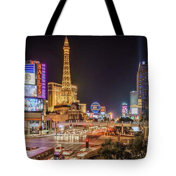 Las Vegas Strip Paris Tote Bag