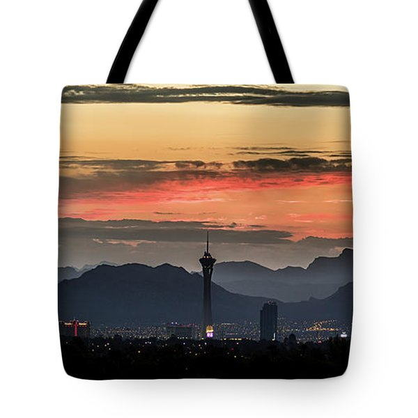 Tote Bag featuring the photograph Las Vegas Sunrise July 2017 by Michael Rogers