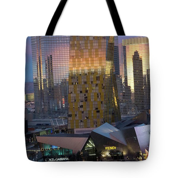 Las Vegas Sunrise Reflection Tote Bag