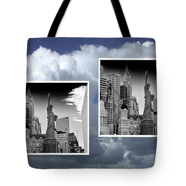 Tote Bag featuring the painting Las Vegas,new York by Athala Carole Bruckner