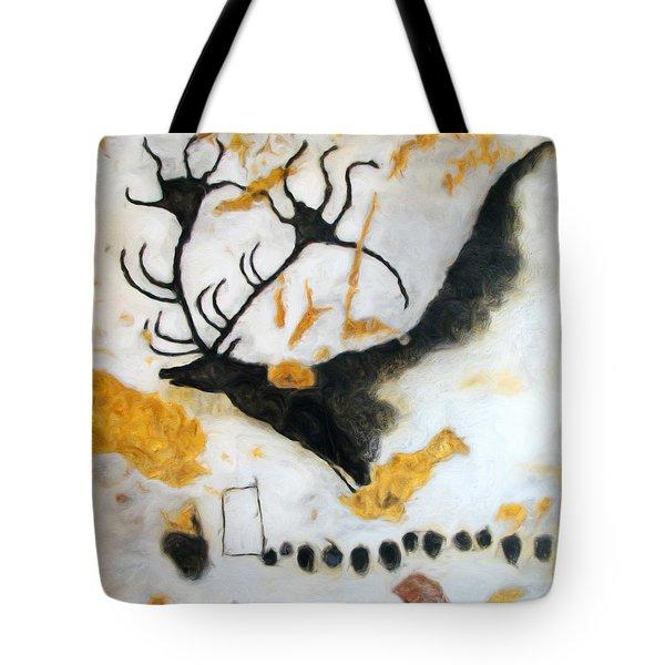 Lascaux Megaceros Deer Tote Bag
