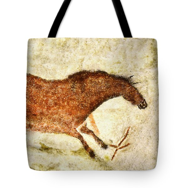 Lascaux Red Horse Tote Bag