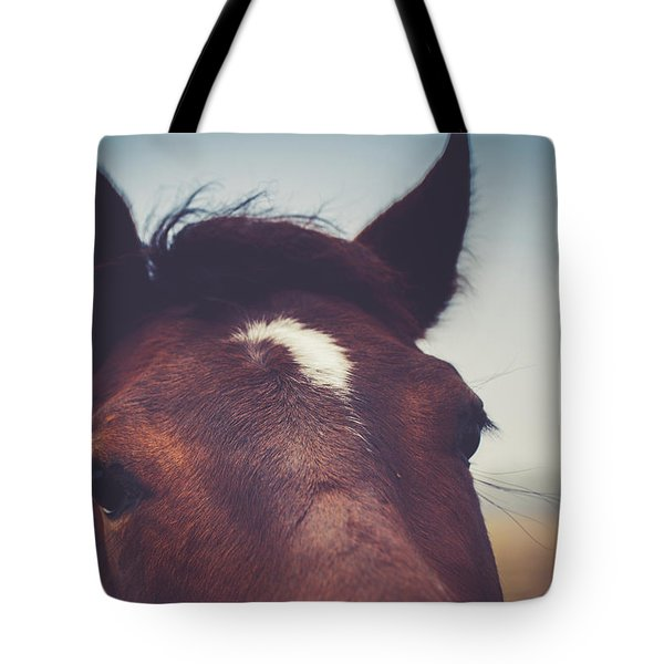 Tote Bag featuring the photograph Lashes by Shane Holsclaw