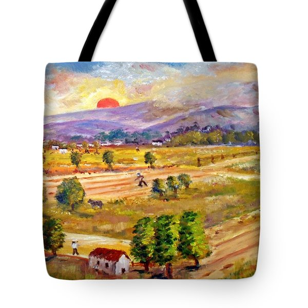 Lasithi Valley In Greece Tote Bag