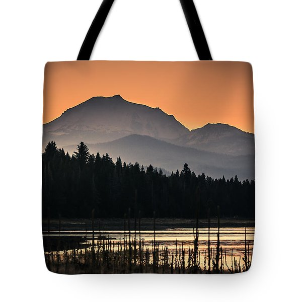 Tote Bag featuring the photograph Lassen In Autumn Glory by Jan Davies