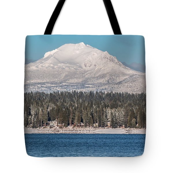Tote Bag featuring the photograph Lassen On Christmas Morning by Jan Davies