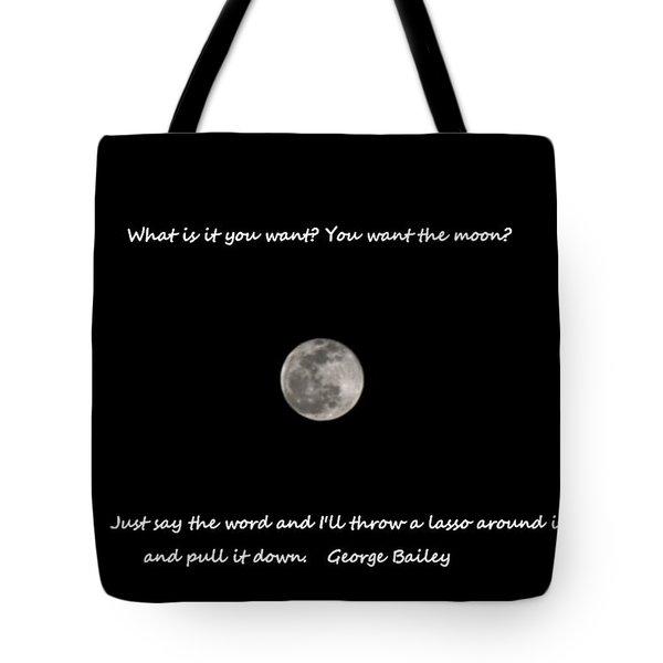 Lasso The Moon Tote Bag