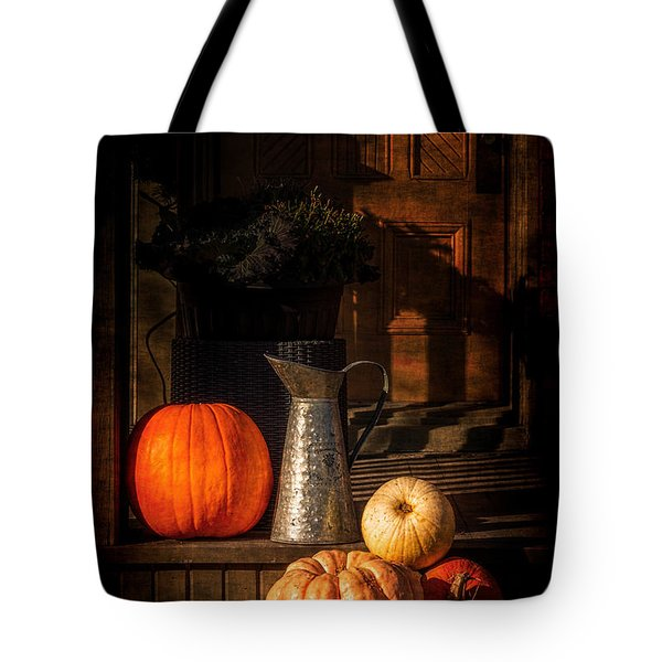 Last Autumn Sunlight Tote Bag by Celso Bressan