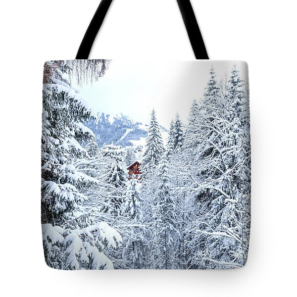 Tote Bag featuring the photograph Last Cabin Standing- by JD Mims