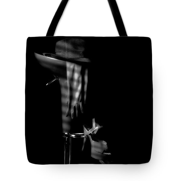 Last Call In Black And White Tote Bag