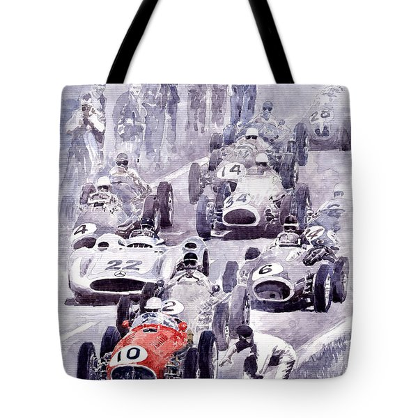 Last Control Maserati 250 F France Gp 1954 Tote Bag