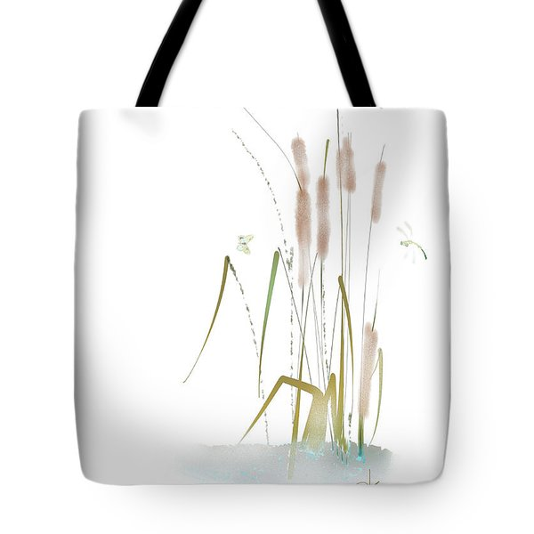 Tote Bag featuring the mixed media Last Summerdance by Larry Talley