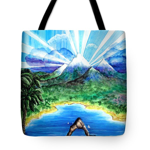 Last Day Of Beautiful Land. Laser Lights Tote Bag