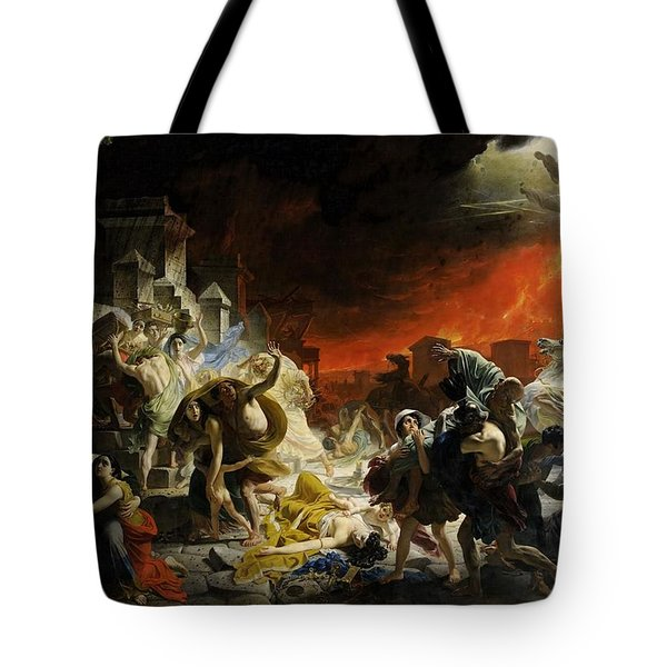 Last Days Of Pompeii  Tote Bag by Karl Brulloff