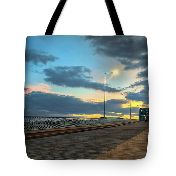 Last Light And Color Over Walnut Tote Bag