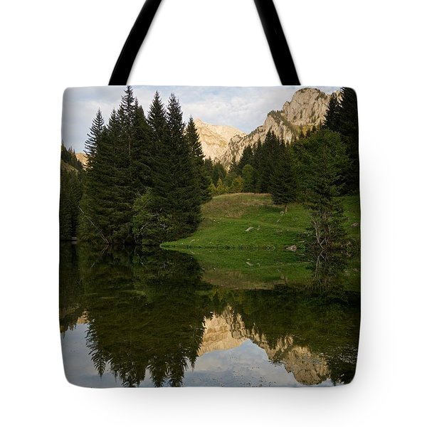 Last Light At Lac De Fontaine Tote Bag