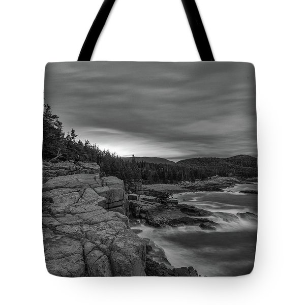 Last Light At Otter Cliff Tote Bag