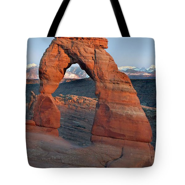 Last Light On Delicate Arch  Tote Bag by Jeff Brunton