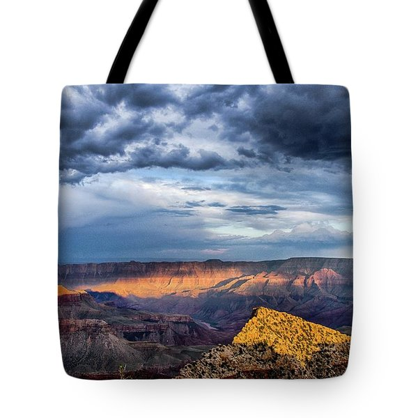 Last Light On Freyas Castle Tote Bag