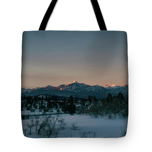 Last Light On Pagosa Peak Tote Bag