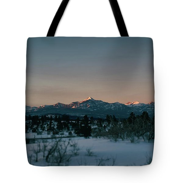 Last Light On Pagosa Peak Tote Bag