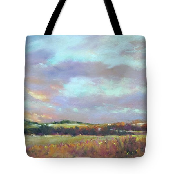 Last Light Over The Hills. France Tote Bag by Rae Andrews