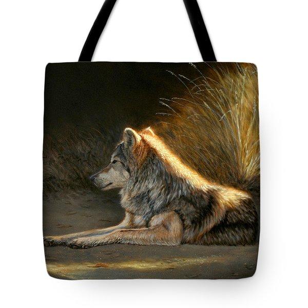 Last Light - Wolf Tote Bag