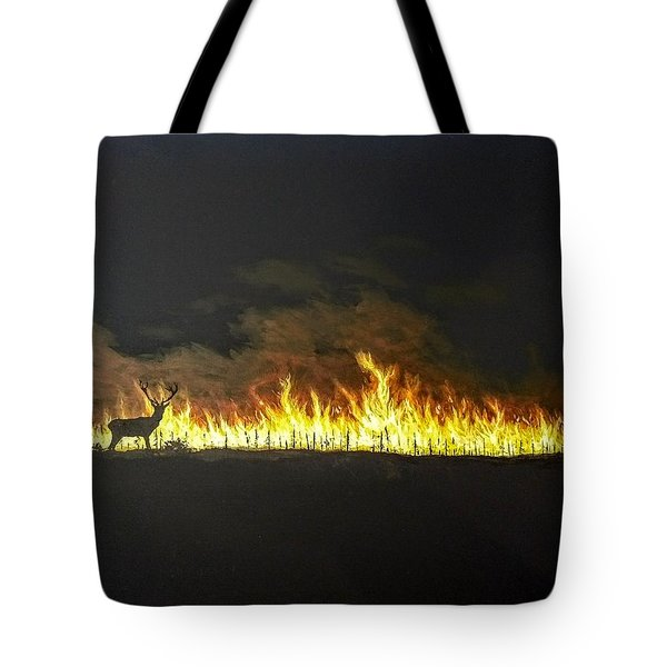 Tote Bag featuring the painting Last Look Back At Home by Kevin Daly